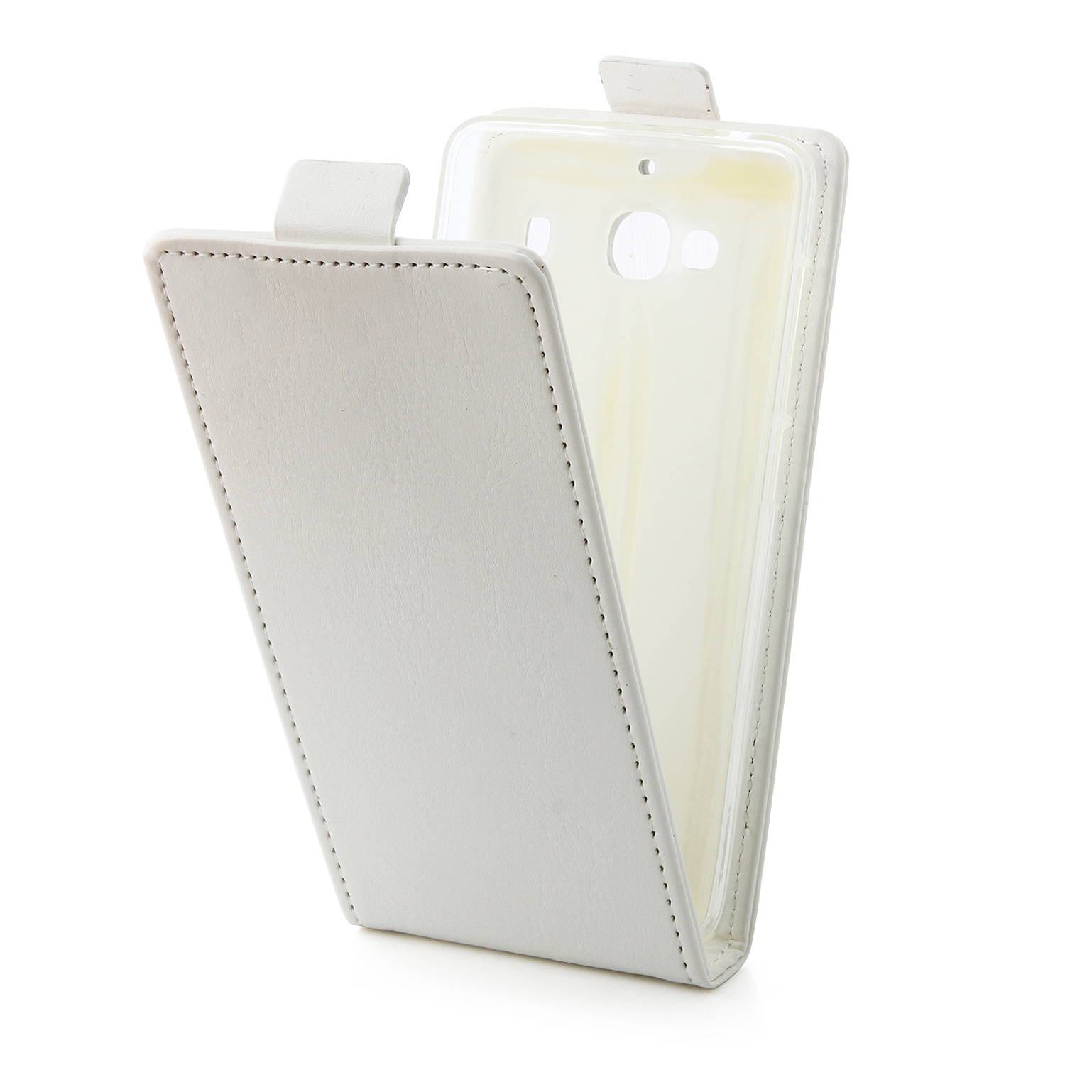 Fashion Leather Flip Case Cover for XIAOMI Redmi 2 Smartphone White