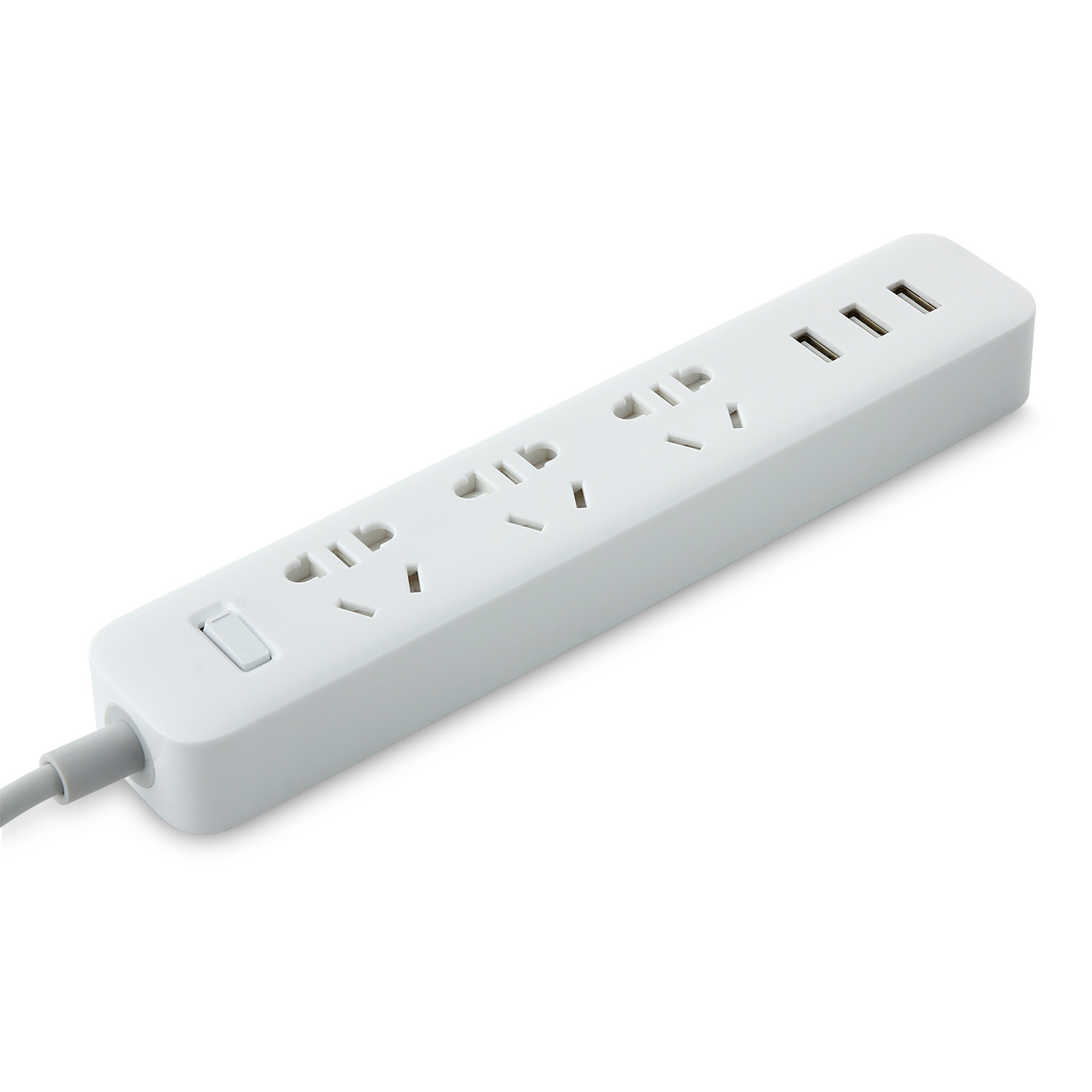 EU Plug XIAOMI Power Strip Outlet Socket Plug 3 USB Charging Port 5V 2.1A
