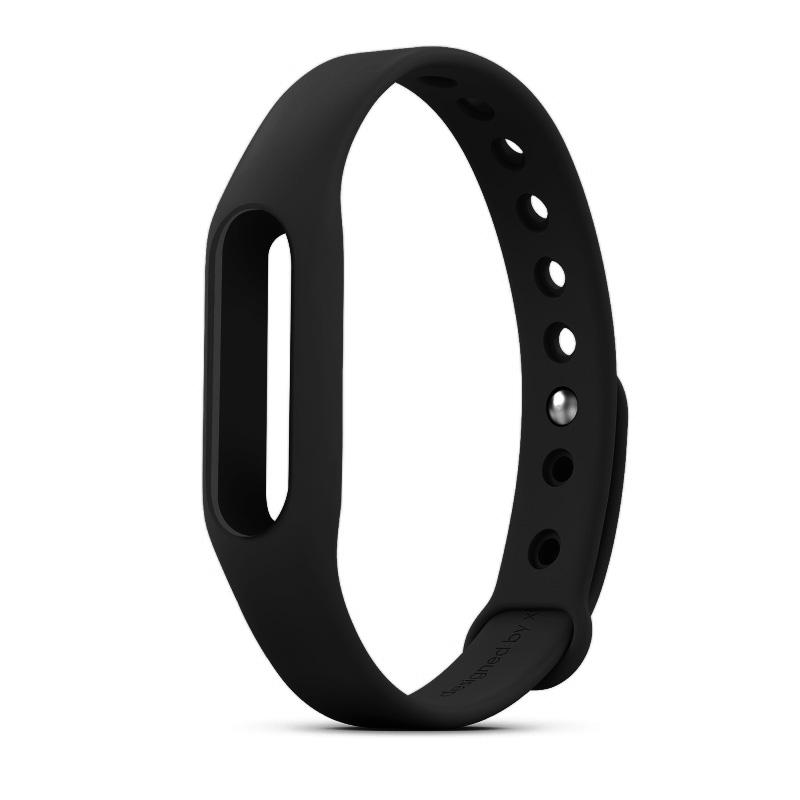 Replacement Wrist Strap Wearable Wrist Band for XIAOMI MI Band Bracelet- Black
