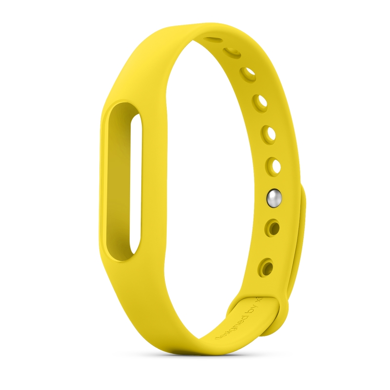 Replacement Wrist Strap Wearable Wrist Band for XIAOMI MI Band Bracelet- Yellow