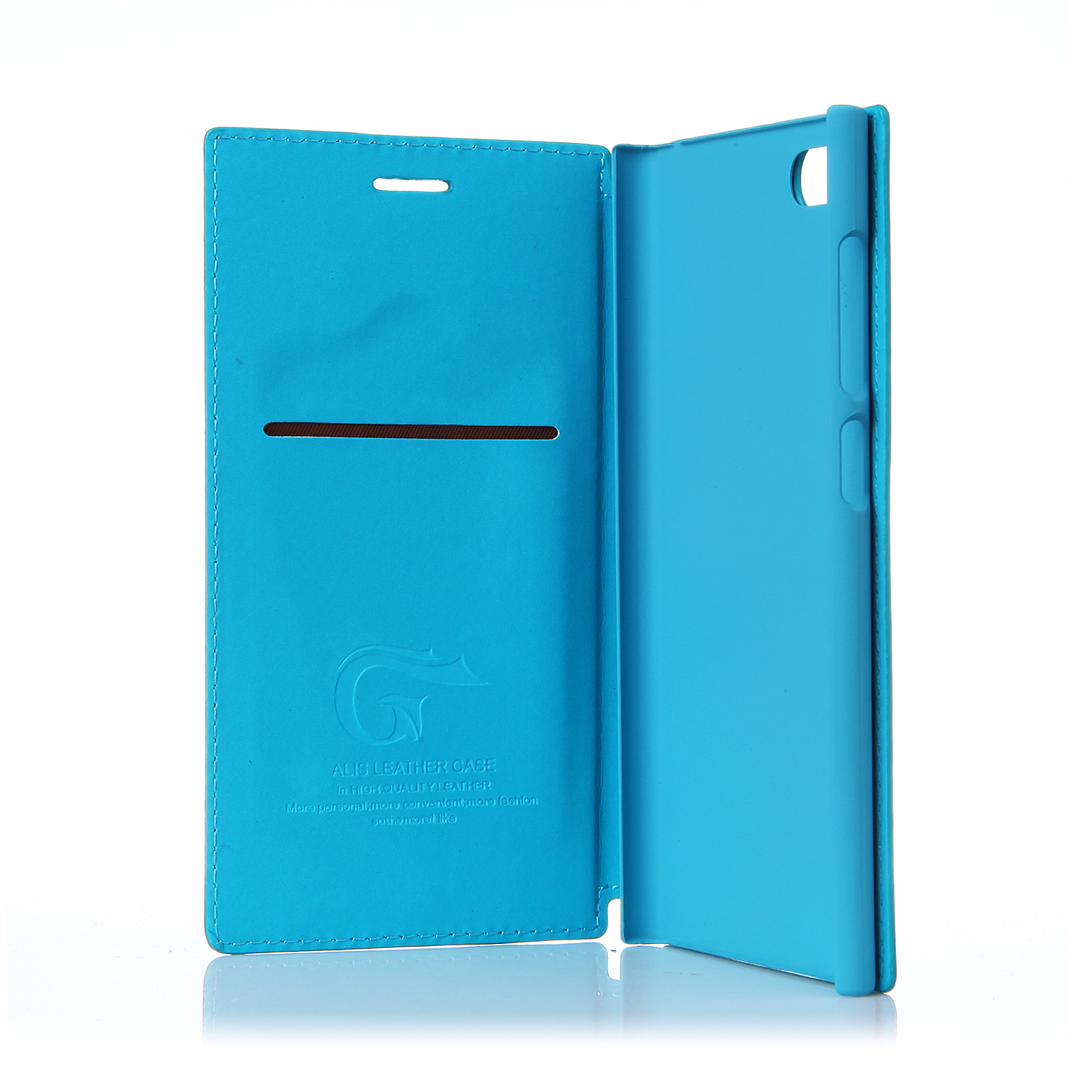 Leather Flip Cover Stand Case for XIAOMI MI3 Smartphone Blue