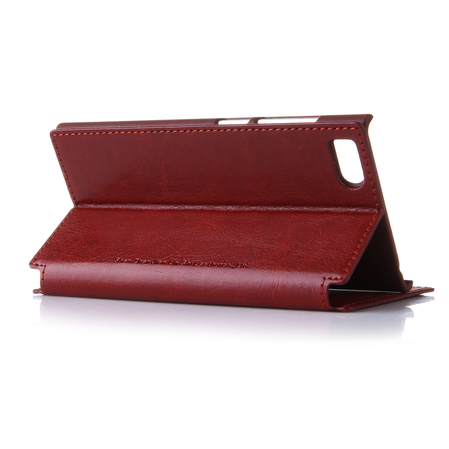 Leather Flip Cover Stand Case for XIAOMI MI3 Smartphone Brown