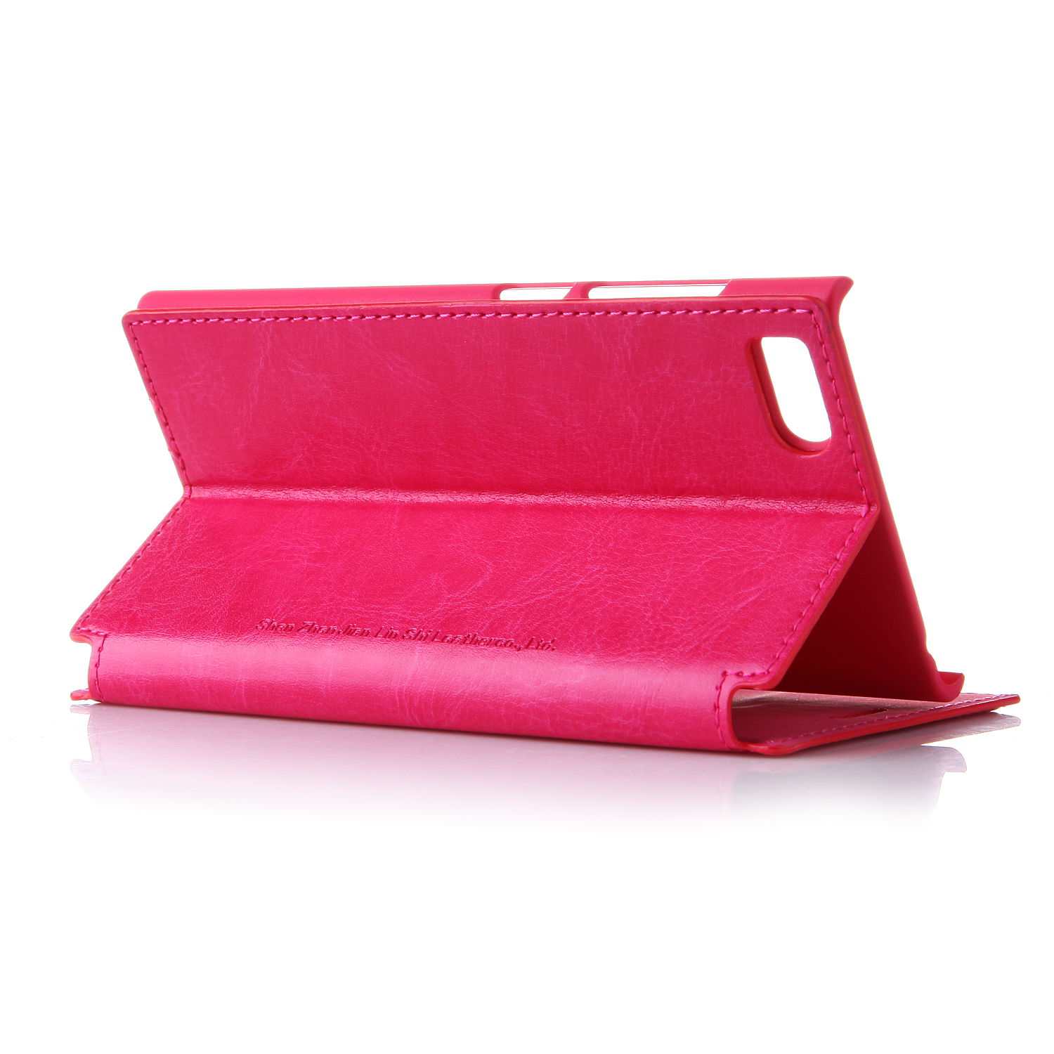 Leather Flip Cover Stand Case for XIAOMI MI3 Smartphone Rose