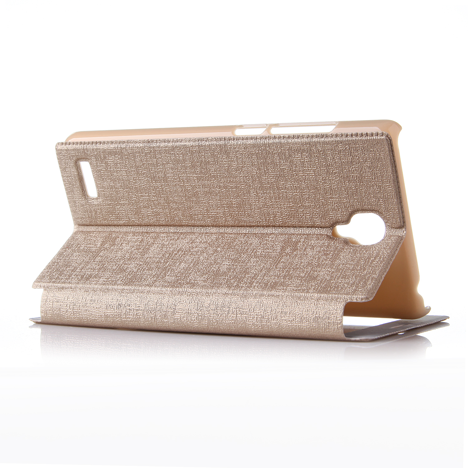 Leather Flip Cover Case Stand Case for XIAOMI Redmi Note Smartphone Golden