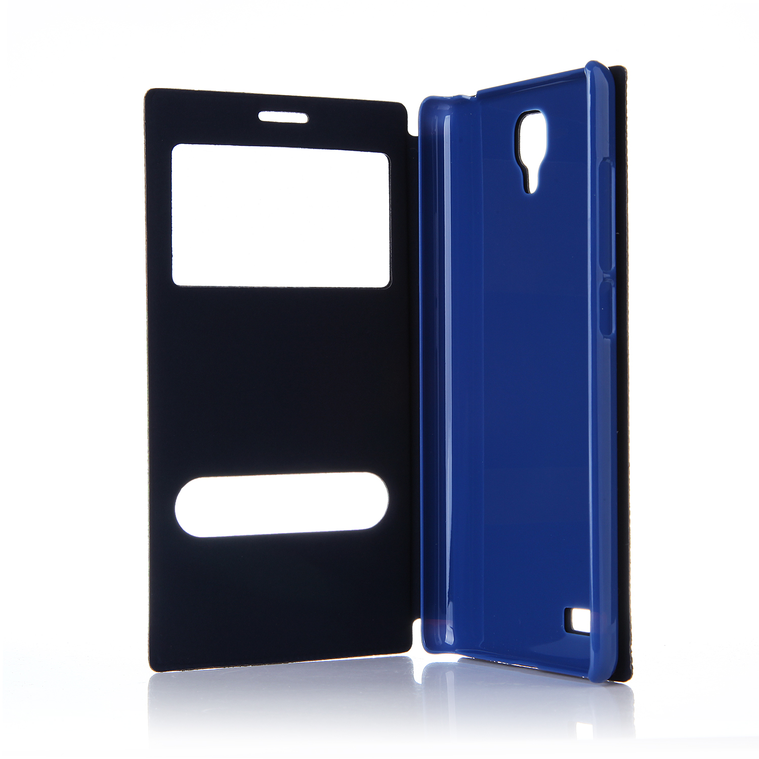 Leather Flip Cover Case Stand Case for XIAOMI Redmi Note Smartphone Dark Blue