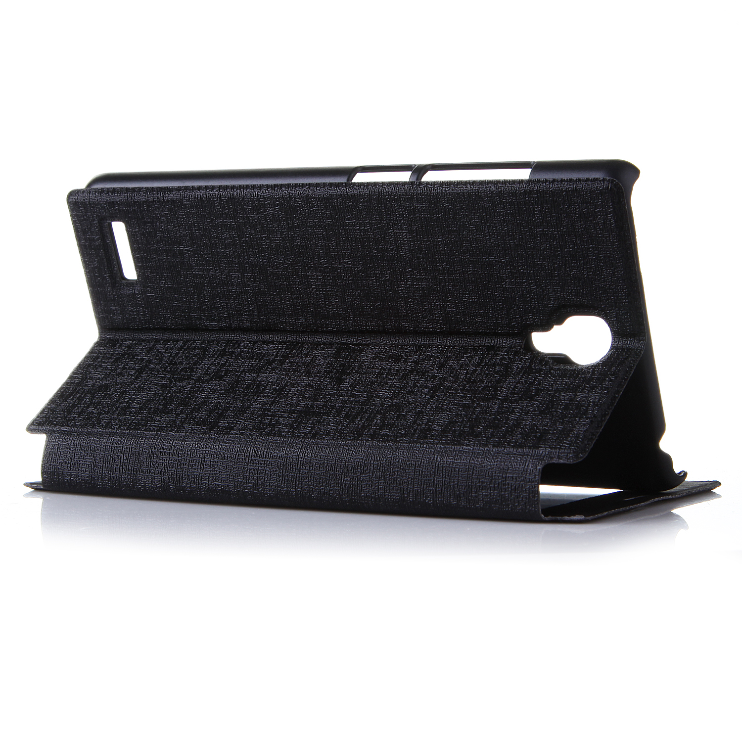 Leather Flip Cover Case Stand Case for XIAOMI Redmi Note Smartphone Black