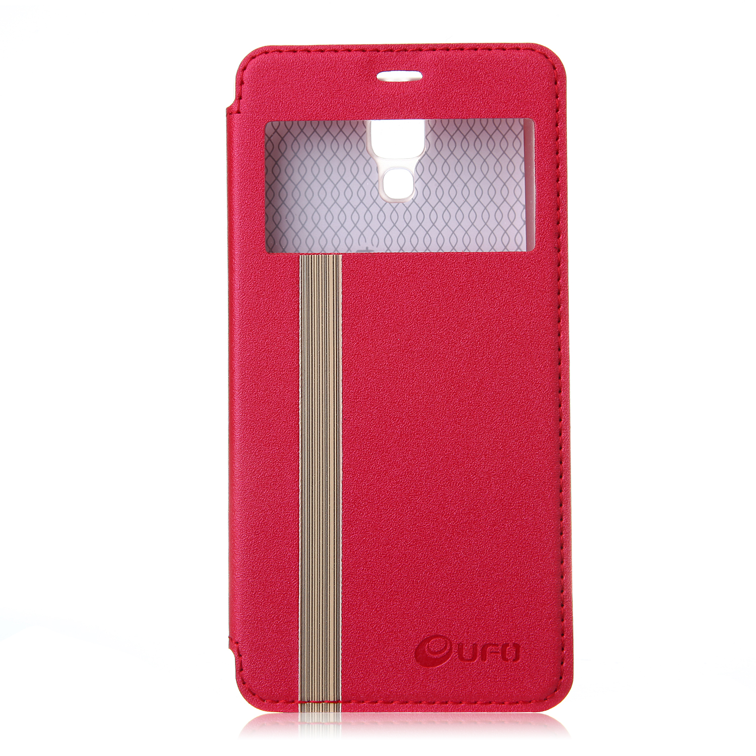 Leather Flip Cover Case Stand Case for XIAOMI MI4 Smartphone Red