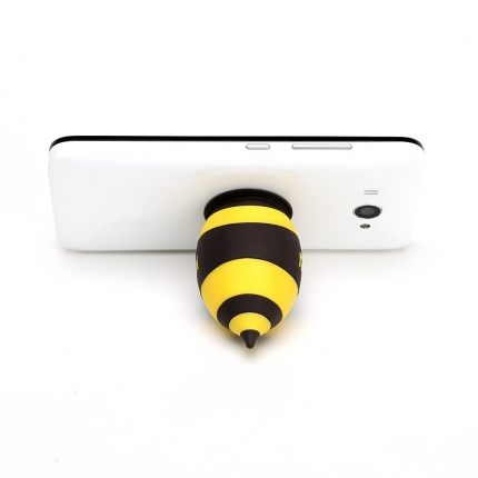 Cute Silicone Bee Shape with Suction Cup Phone Holder Yellow&Black