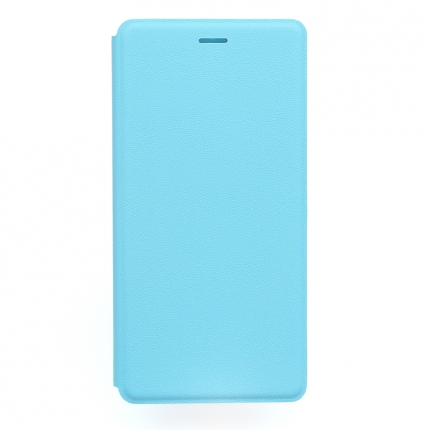 Original XIAOMI S-View Flip Cover Stand Leather Case for XIAOMI MI4 Blue