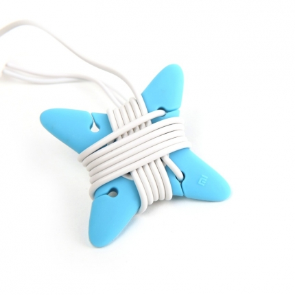 Original XIAOMI Silicone Earphone Winder Cord Organize Blue