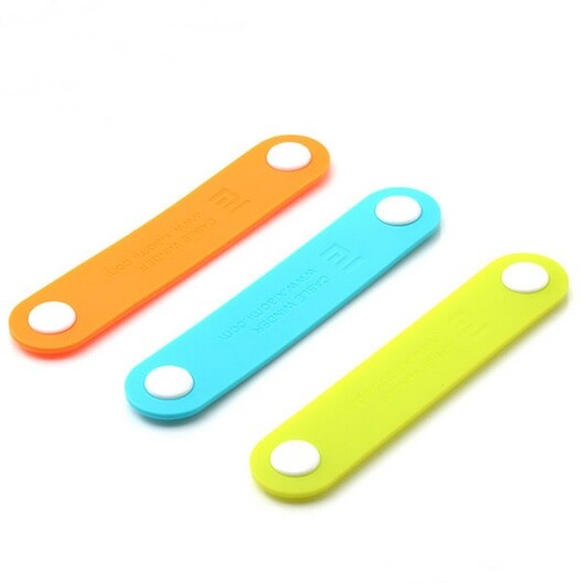 Original XIAOMI Silicone Button Cable Winder Color Random