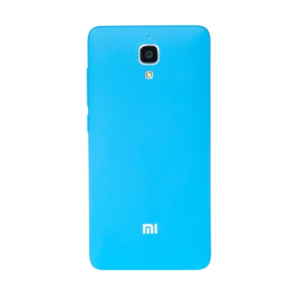 Original XIAOMI Protective TPU Back Case for XIAOMI MI4 Smartphone Blue