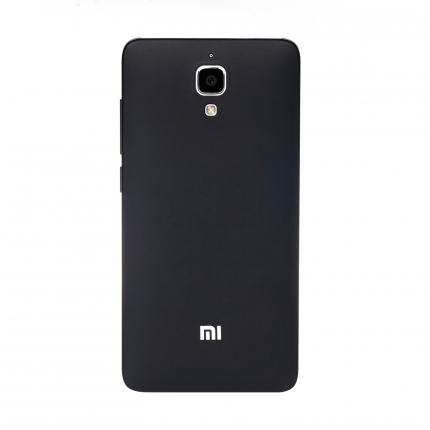 Original XIAOMI Protective TPU Back Case for XIAOMI MI4 Smartphone Black