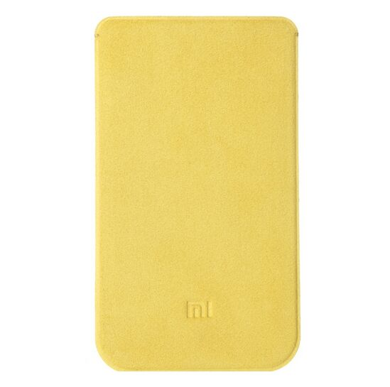 Original XIAOMI Microfiber Pouch Protective Case for XIAOMI MI4 Yellow