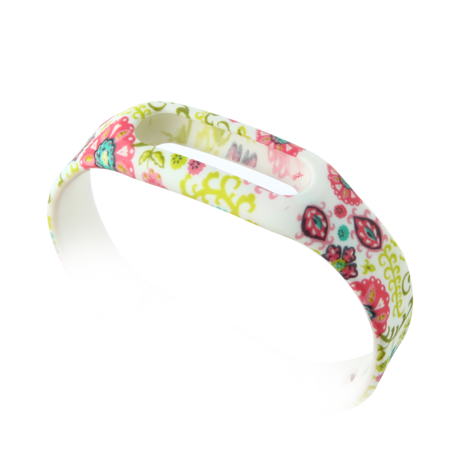 Colorful Flower Pattern Replacement Wrist Strap Wearable Wrist Band for XIAOMI MI Band