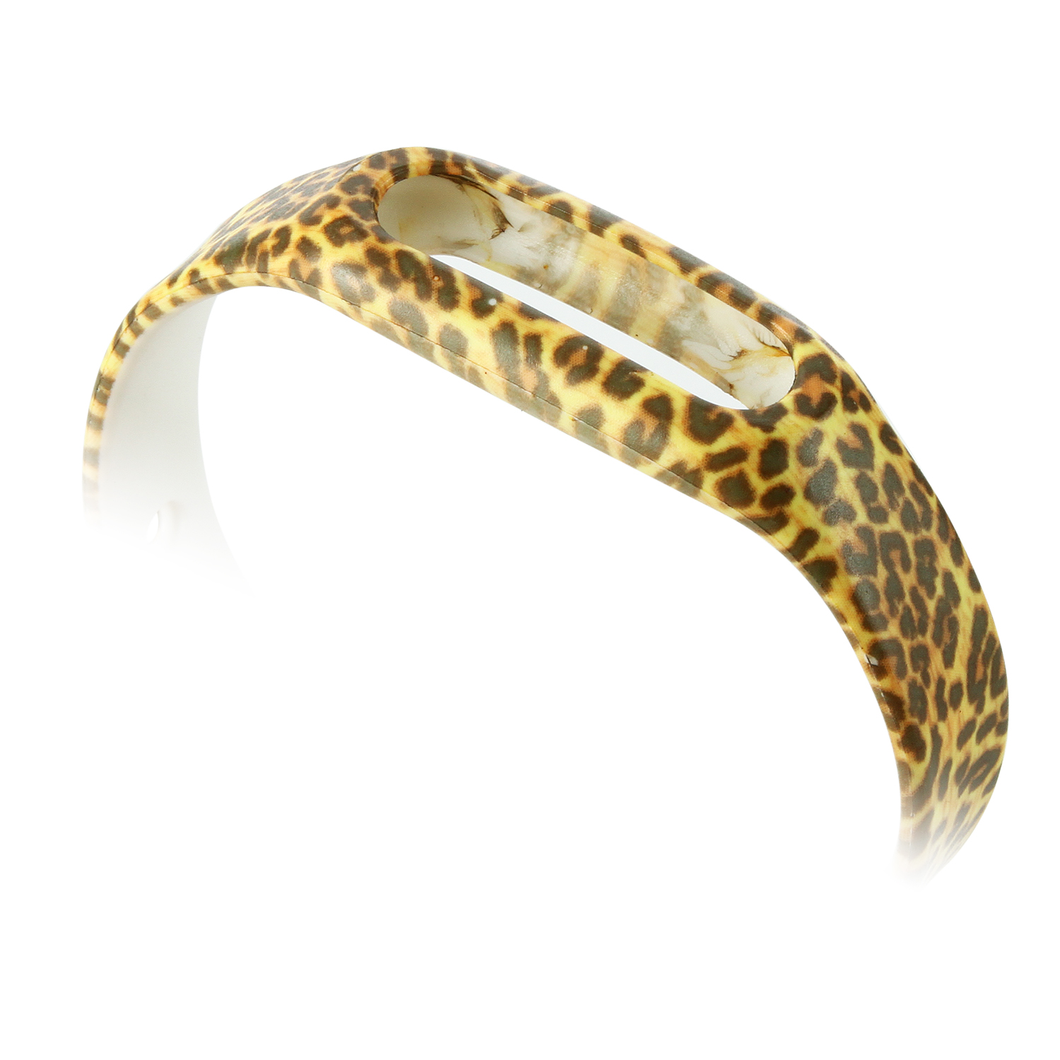 Brown Leopard Pattern Replacement Wrist Strap Wearable Wrist Band for XIAOMI MI Band