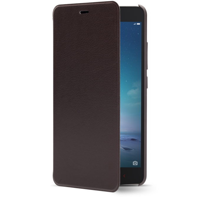 Original Flip Leather Cover Case for XIAOMI Redmi Note 2 Smartphone Black