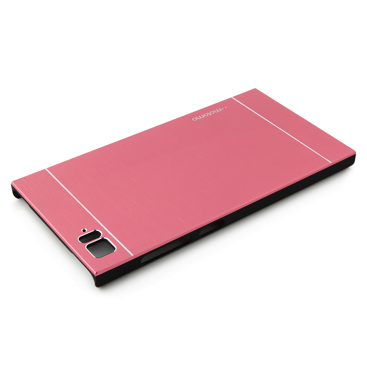 Ultra Thin Metal Wire Drawing Phone Case for XiaoMi 3 - Pink