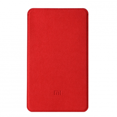 Original XIAOMI Microfiber Cloth Protective Case for Ultrathin 5000mAh Power Bank Red