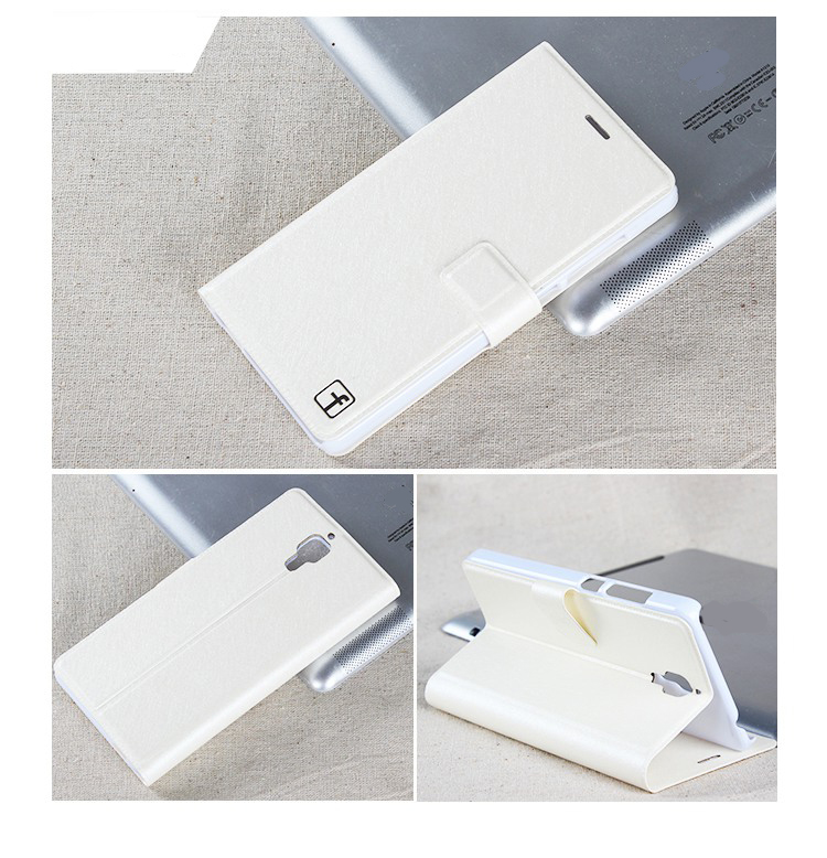Protective Flip Cover Stand Leather Case for XIAOMI MI4 White