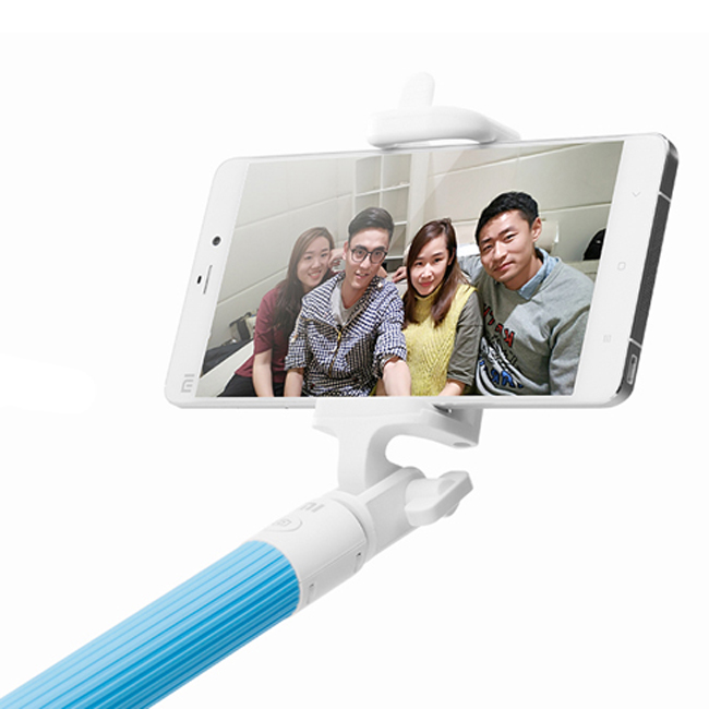 Original Xiaomi Bluetooth Selfie Handheld Monopod Stick for IOS Android Smartphone Blue