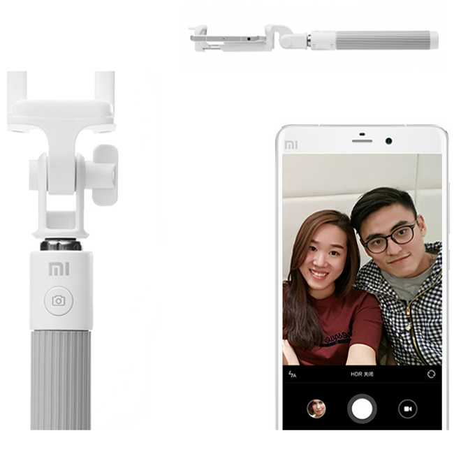 Original Xiaomi Bluetooth Selfie Handheld Monopod Stick for IOS Android Smartphone Gray