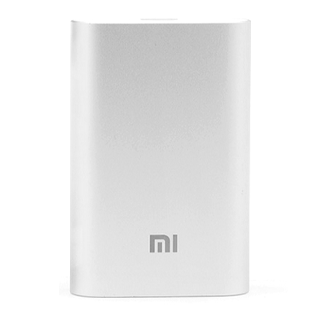 Original Xiaomi 5V 2A 10000mAh Super Mini Power Bank for Smartphone Tablet PC Silver