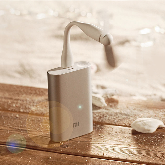 Original Xiaomi USB Fan Flexible Power-saving Mini Fan For Power Bank / Notebook White