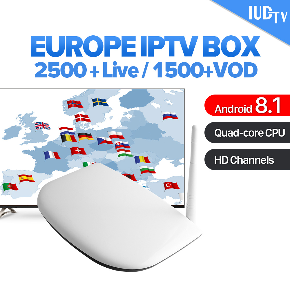 IPTV Italy Android 8.1 Smart IPTV Set Top Box IUDTV Code Subscription 2500 Channels Europe Sweden Italy Spain Germany IPTV Box