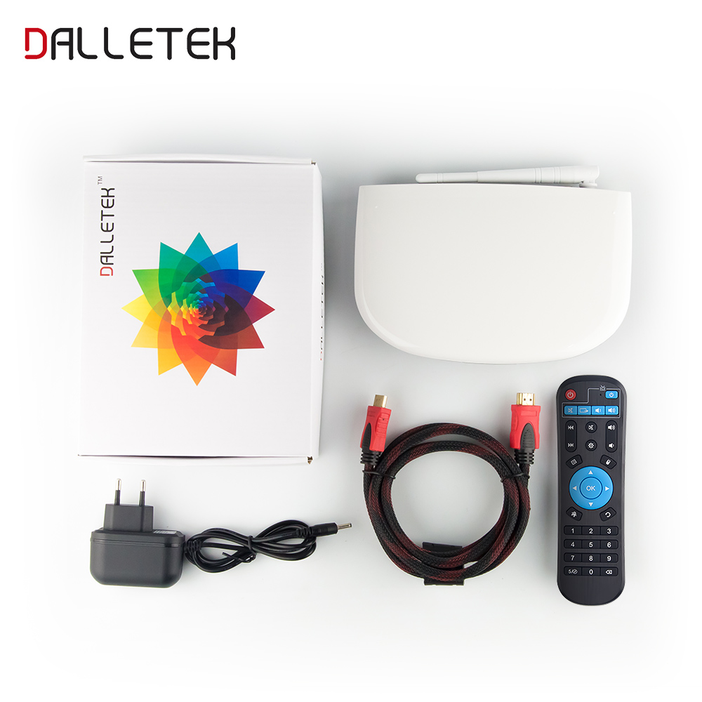 LeadCool Q1304 Android TV Box With Qhdtv Subscription 1300+ French Arabic IT/UK/DE Channels RK3229 1GB/8GB 1080P Dual Wifi KODI Supportedq