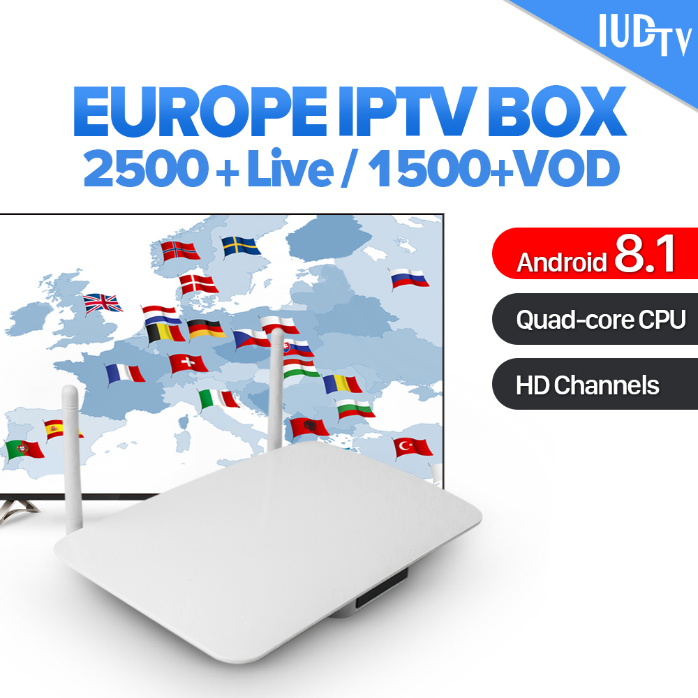IPTV 1 Year Italia Android 8.1 Smart TV Box RK3229 Quad Core TV Receiver IUDTV IPTV Subscription Europe Sweden Italy Sweden IPTV