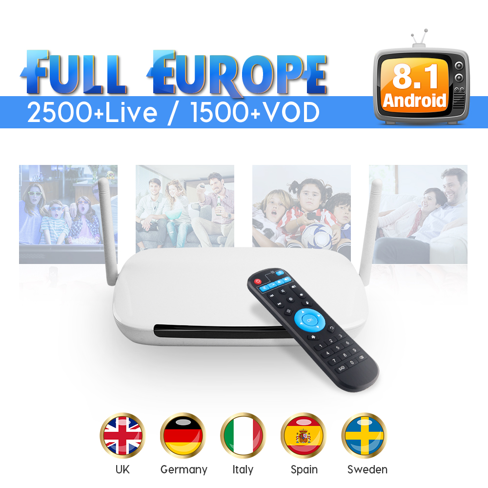 IPTV Europe Q9 Android 8.1 IP TV Box 1 Year IUDTV Code Iptv Sweden UK Italy Portugal French Europe Sweden Arabic IPTV Box