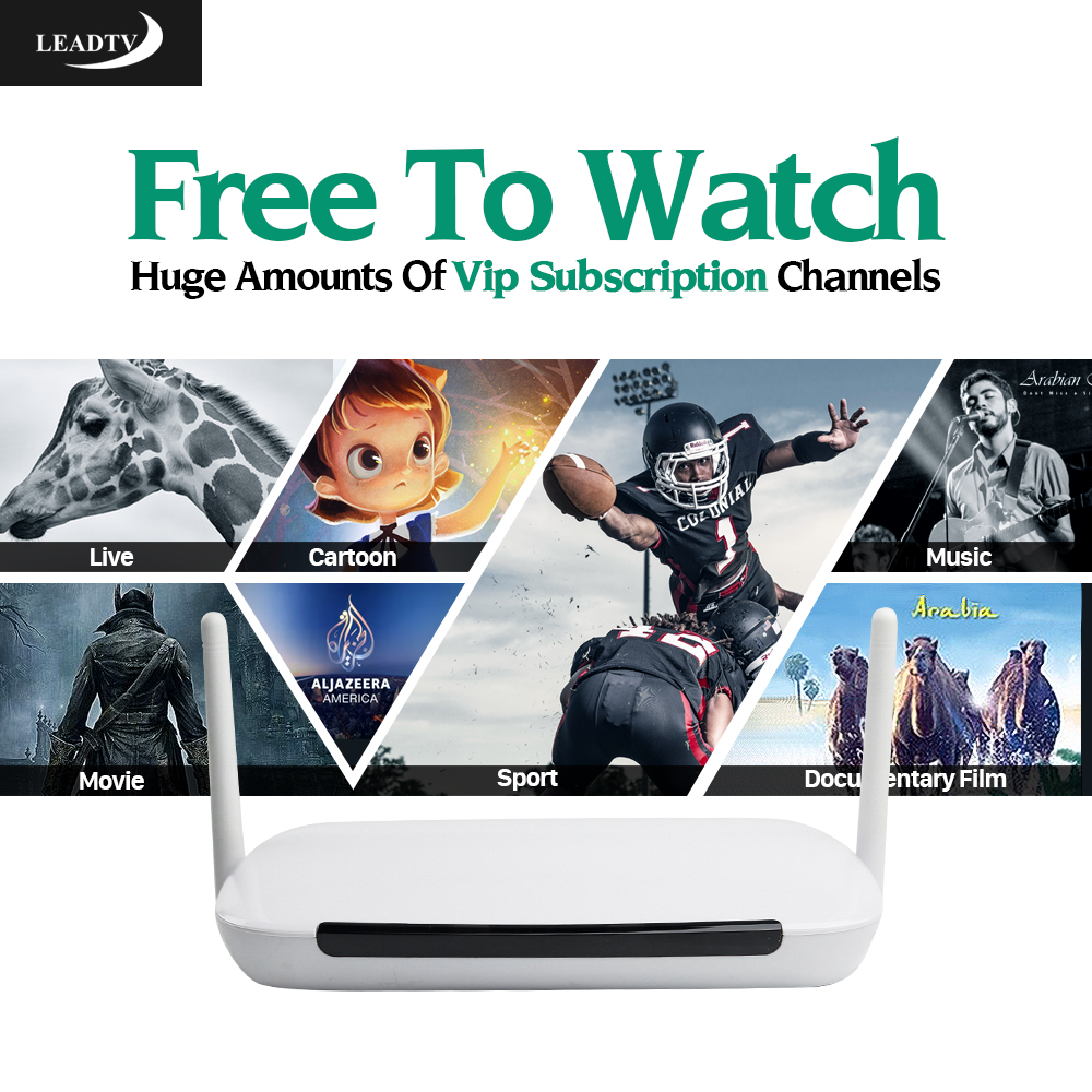 Arabic Iptv Box Q9 Android TV Box 1G/8G With Leadtv APK 700+ French Arab African Tunisia Spain Italy Germany Channels IPTV Server