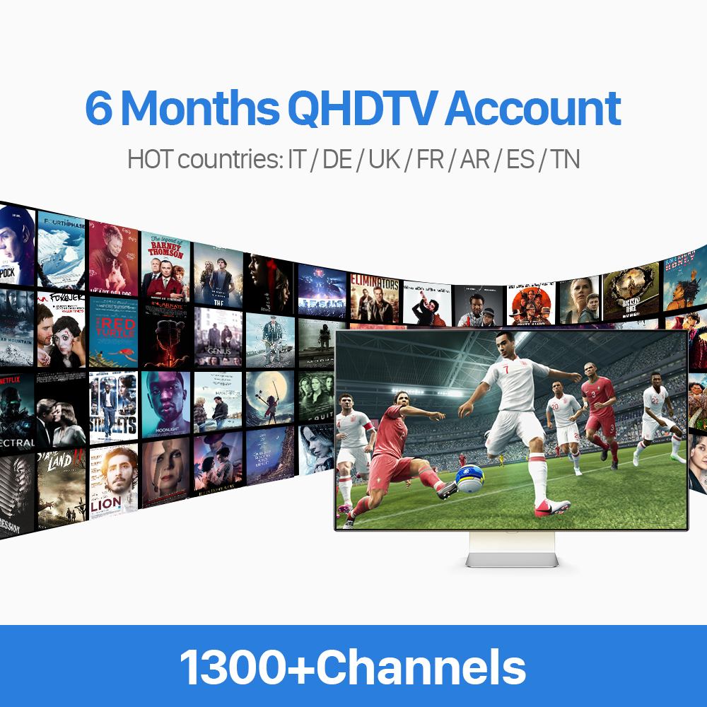 Arabic Iptv Account 6 Months Qhdtv With Stable French Italian Spanish Dutch Channels