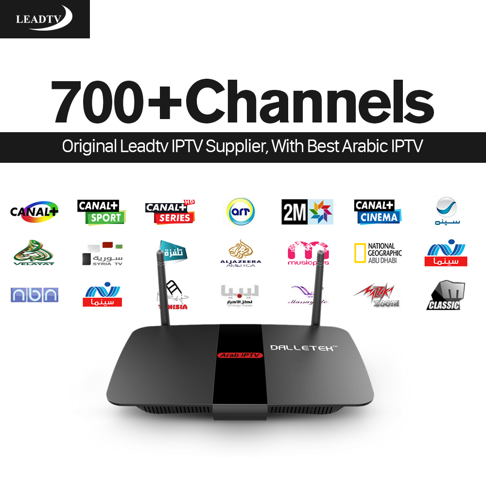 Dalletek Android Iptv Set Top Box R1 Arabic Media Player Leadtv Account 700+ French/Italian/Germany/Spanish Channels