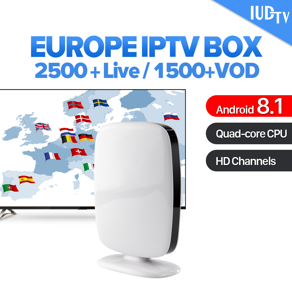 Spain IPTV Subscription R9 Smart Android 8.1 TV Top Box IUDTV Code IPTV Europe Sweden Spain Italy UK Germany Arabic IPTV Box