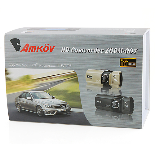 Amkov ZOOM-007 2.7 Inch Extreme Sports Camera Digital Camcorder for Backpackers Bikers -Champagne