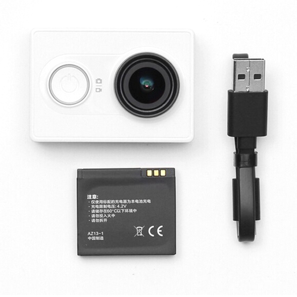 Xiaomi Yi Action Camera WiFi 16MP 1080P 155° Wide Lens Sports DV White Basic Edition