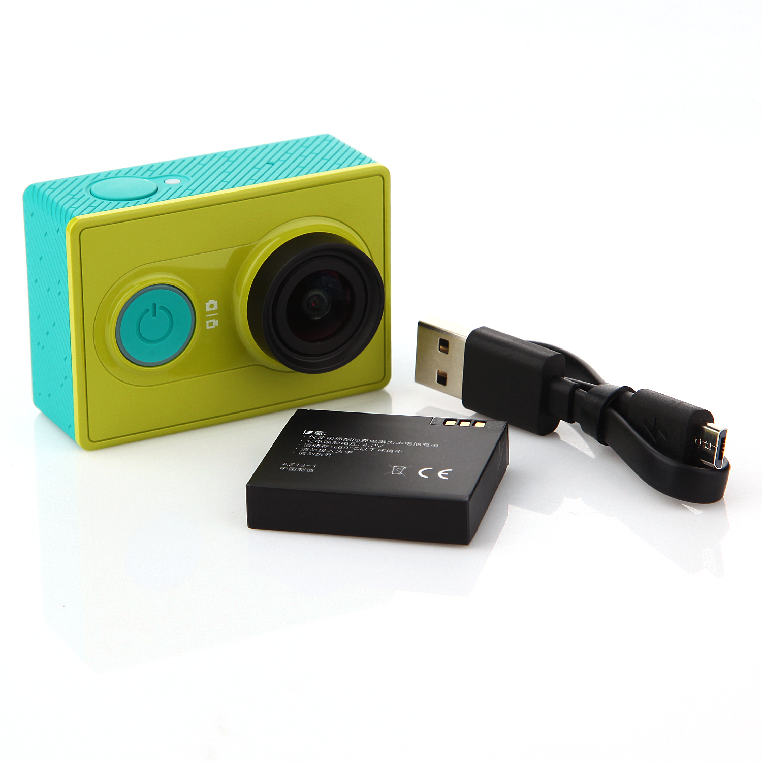 Xiaomi Yi Action Camera WiFi 16MP 1080P 155° Wide Lens Sports DV Green Basic Edition