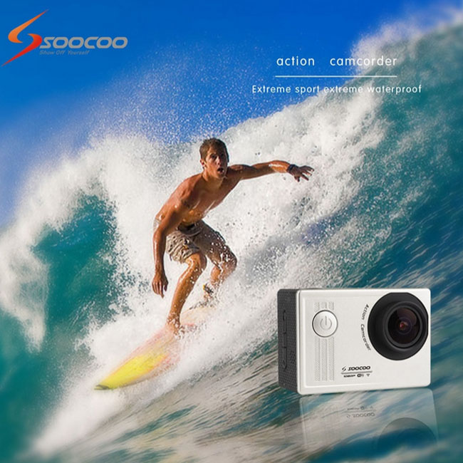 "SOOCOO S55 1.5"" LCD 170 Wide Angle Action Sport Camcorder DVR Waterproof 30m"