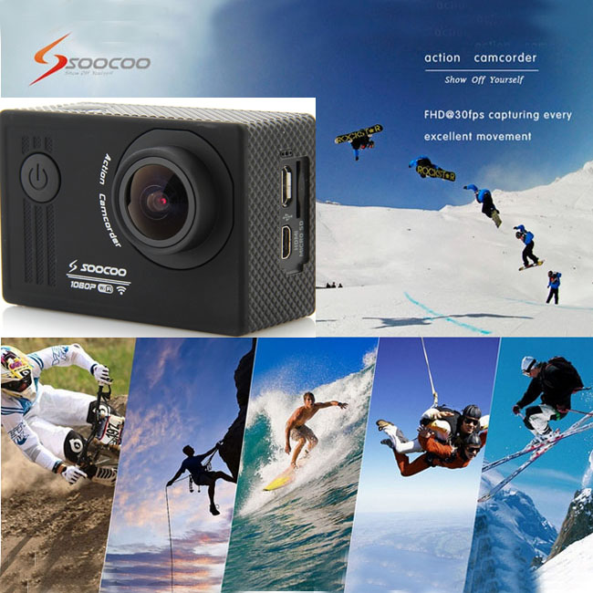 "SOOCOO S55 1.5"" LCD 170 Wide Angle WiFi Action Sport Camcorder DVR Waterproof 30m"