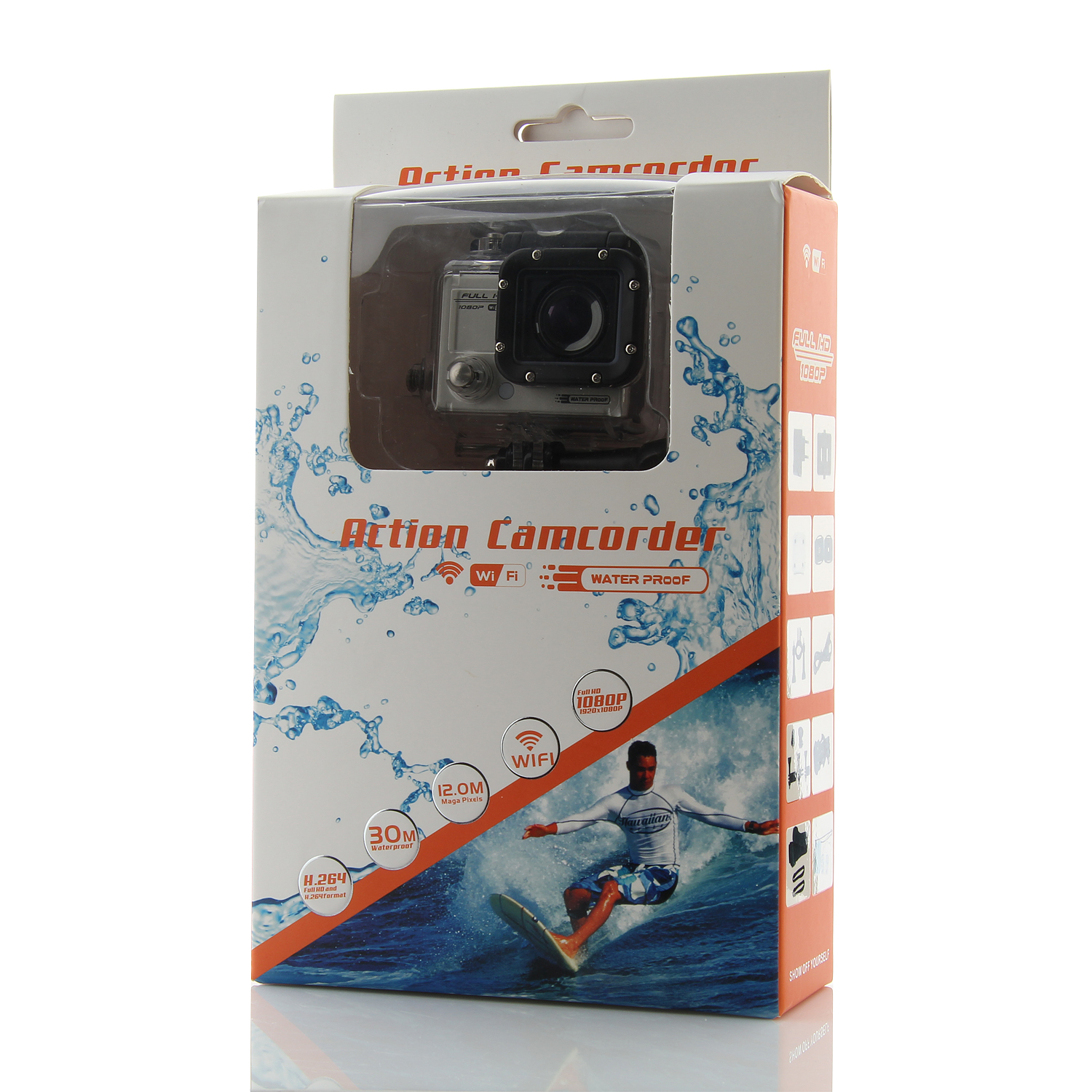 "F53 14MP 1.5"" LCD WiFi Version Sport Action Camcorder 1080P Full HD 30M Waterproof"