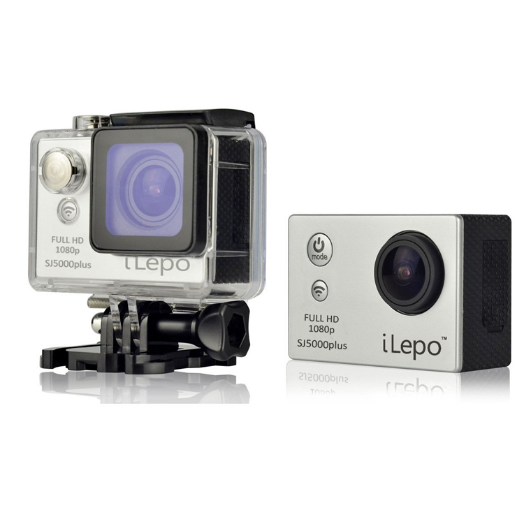 iLepo SJ5000 Plus WiFi Action HD Camera 16MP Novatek 96655 1080P Waterproof Silver