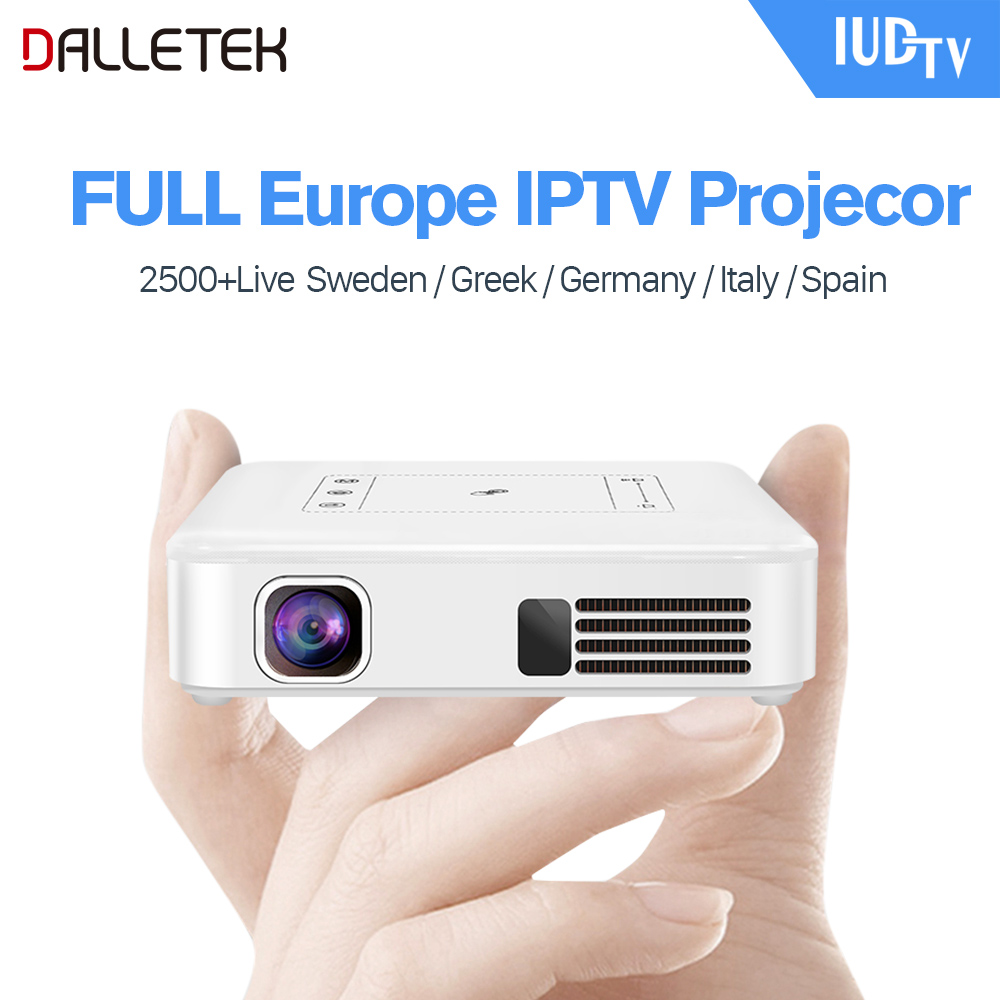 Mini Projector Android 7.1 Syetem With WIFI Bluetooth With One Year European IUDTV Channels.