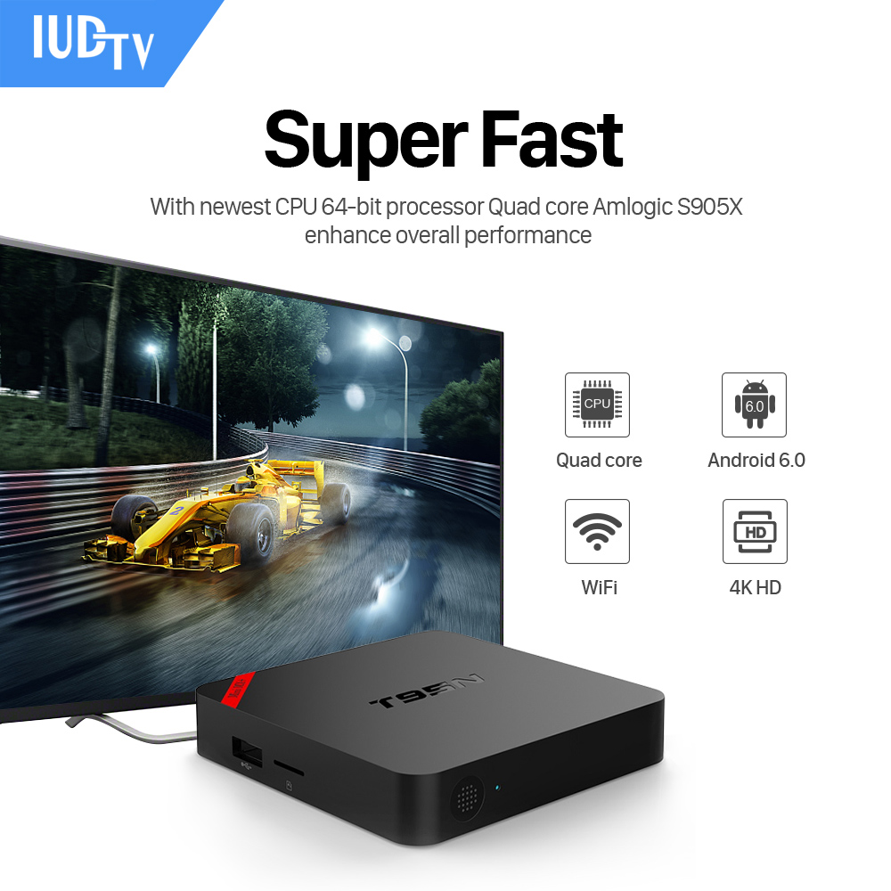 Mini MX+ Android 6.0 TV Box T95N S905X Android Set Top Box IUDTV Iptv 1700+ French Turkish Italian US Channels