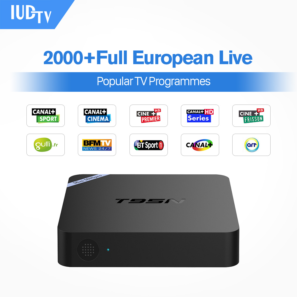 T95N Mini M8S Pro m8spro Android 6.0 TV Box  S905X Quad Core Wifi 2G 8G  IUDTV 1700+ French Turkish Italian US H96pro Plus TV Receiver