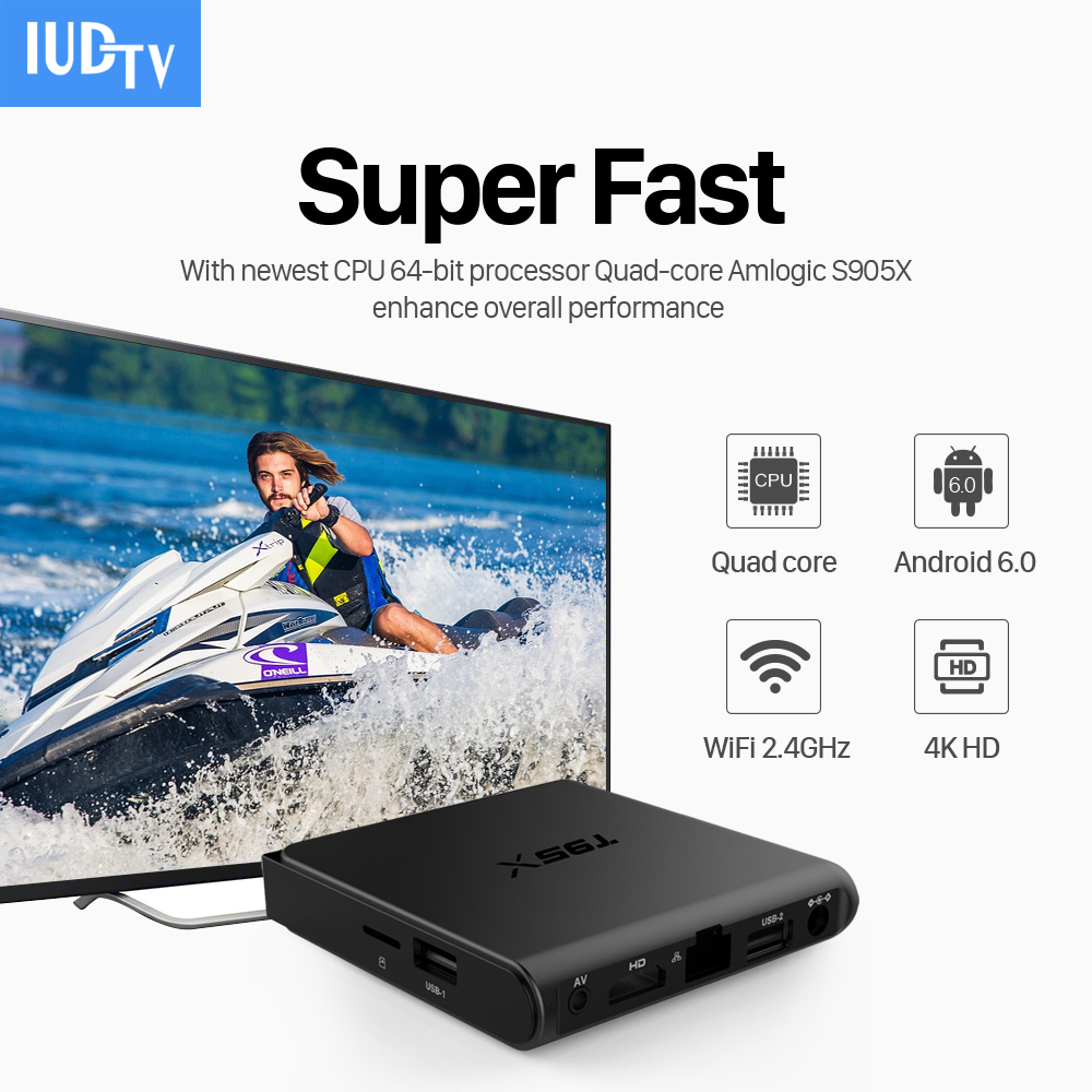European T95X Android Iptv Set Top Box IUDTV 1700+ French Turkish Italian US Package WiFi 4K TV Receiver