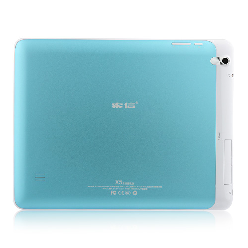 Soxi X5 MTK8377 Tablet PC 9.7 Inch Android 4.1 3G GPS Bluetooth Monster Phone Dual Camera 8GB Blue