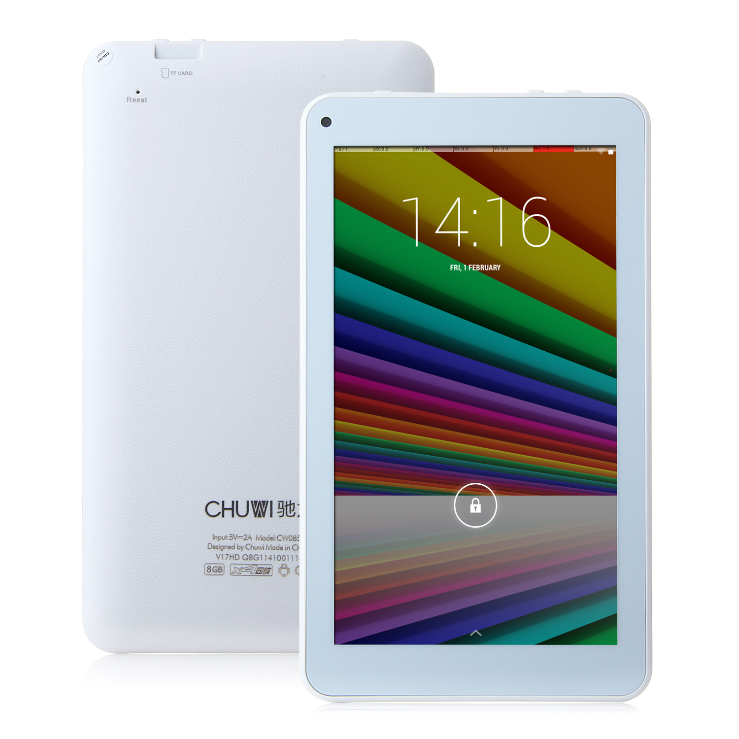 CHUWI V17HD Tablet PC Quad Core RK3188 7.0 Inch Android 4.4 IPS Screen 8GB White