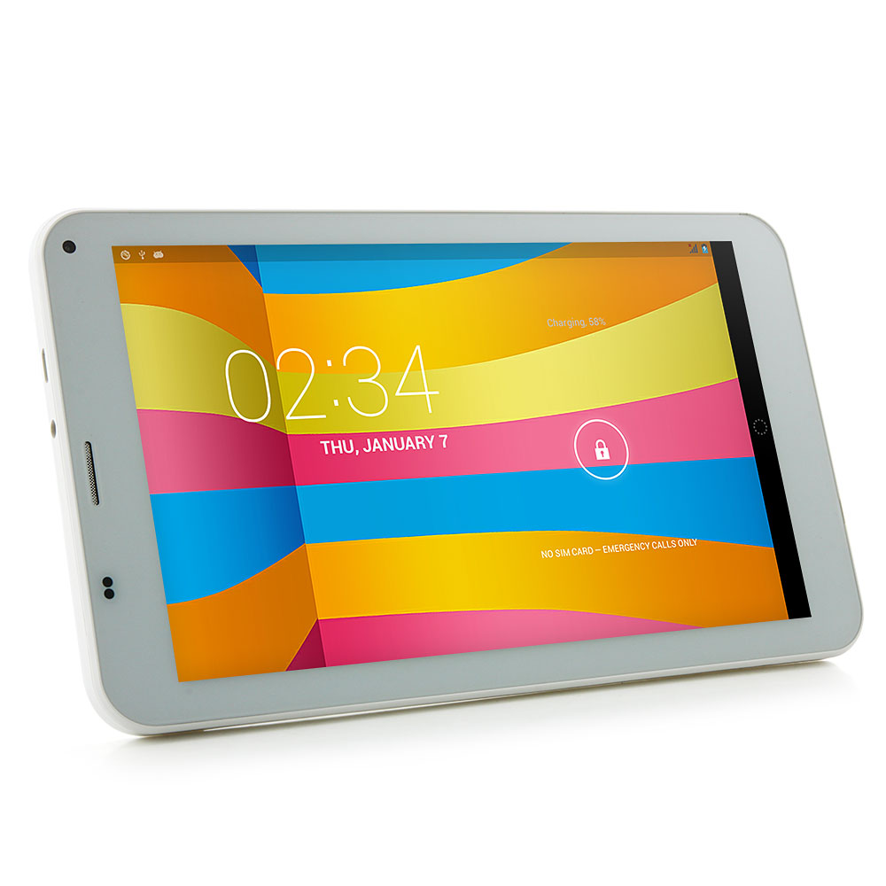 Cube Talk 7X u51gt-c4 Quad Core Tablet PC 7 Inch IPS 8GB 3G WCMDA White